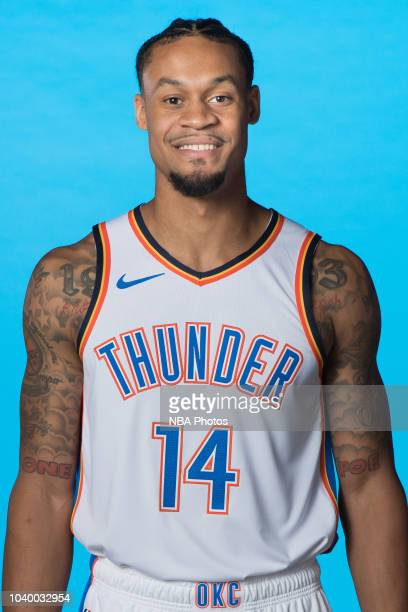 McDaniels of the Oklahoma City Thunder poses for a head shot during media day at Chesapeake Energy Arena on September 24 2018 in Oklahoma City...