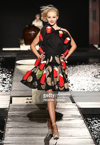 McDCouture Fashion show opened with fashion student Sebastian CubidesÕ oneofakind design created from 50 to go bags seven Quarter Pounder with Cheese...