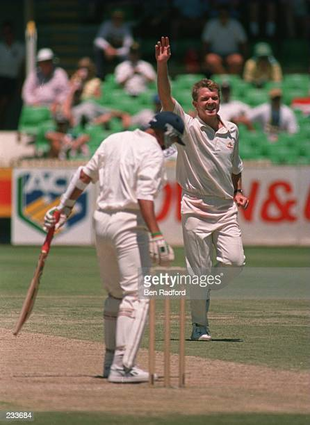 McDERMOTT OF AUSTRALIA ON THE FINAL DAY OF THE FIFTH TEST MATCH BETWEEN AUSTRALIA AND ENGLAND AT THE WACA GROUND IN PERTH Mandatory Credit Ben...