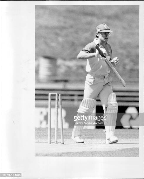 NSW V Victoria Wellham bowled JacksonDirk Wellham leaves the wicket after being bowled by Paul Jackson for 17 yesterday February 15 1986
