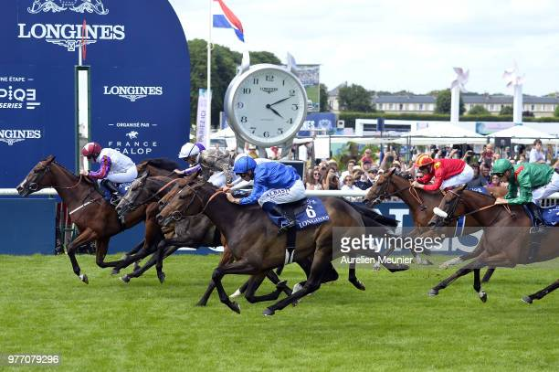 McDonald of England riding Laurens wins the Prix de Diane Longines on June 17 2018 in Chantilly France