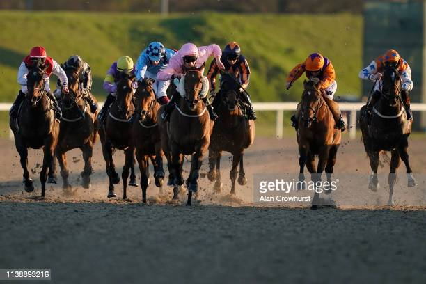 McDonald riding Compass Point win The Pontlands Park Hotel Handicap at Chelmsford City Racecourse on March 28, 2019 in Chelmsford, England.