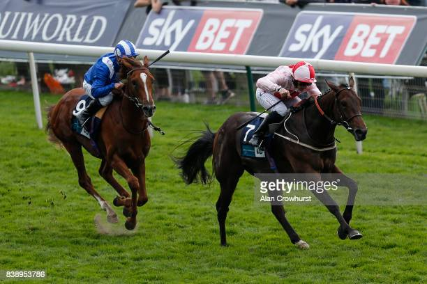 McDonald riding Dream Today win The British Stallion Studs EBF Convivial Maiden Stakes at York racecourse on August 25 2017 in York England