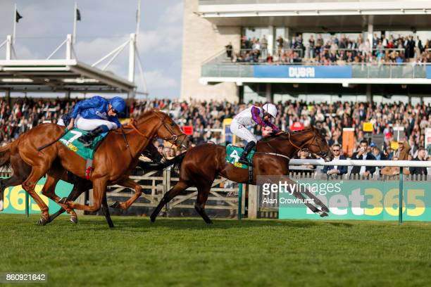 McDonald riding Laurens win The bet365 Fillies' Mile at Newmarket racecourse on October 13 2017 in Newmarket United Kingdom