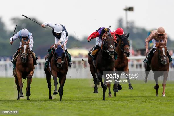 McDonald riding Montaly win The Weatherbys Hamilton Lonsdale Cup at York racecourse on August 25 2017 in York England