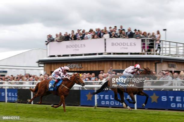McDonald riding No Lippy win The Stellar Group Lily Agnes Conditions Stakes at Chester Racecourse on May 9 2018 in Chester United Kingdom