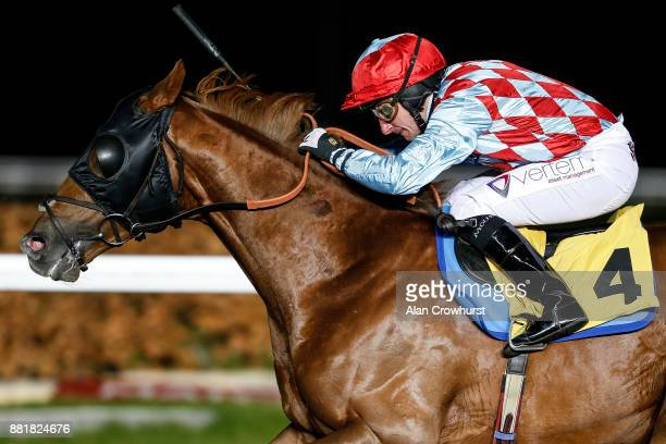 McDonald riding Red Verdon win The 32Red Wild Flowers Stakes at Kempton racecourse on November 29 2017 in Sunbury United Kingdom