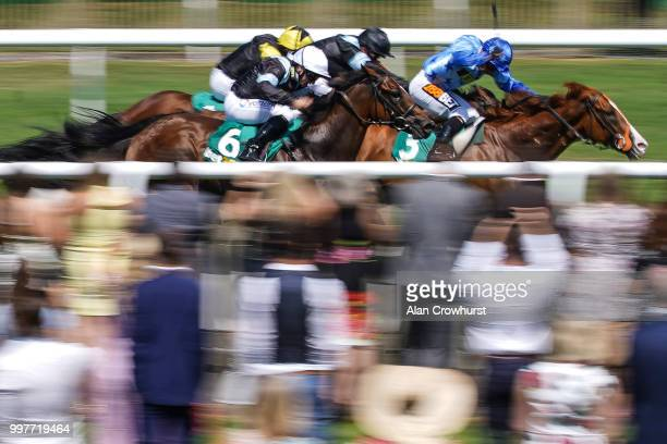 McDonald riding Zap win The bet365 Handicap Stakes at Newmarket Racecourse on July 13 2018 in Newmarket United Kingdom