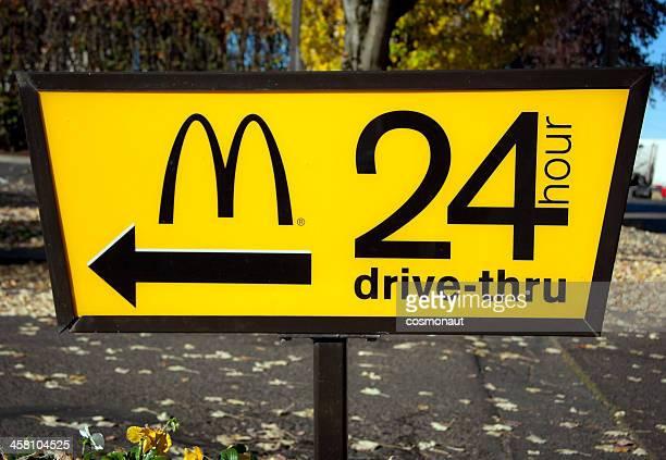 McDonald's 24-Hour Drive-Thru Sign
