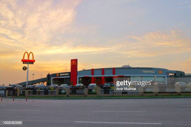 McDonalds against sunset