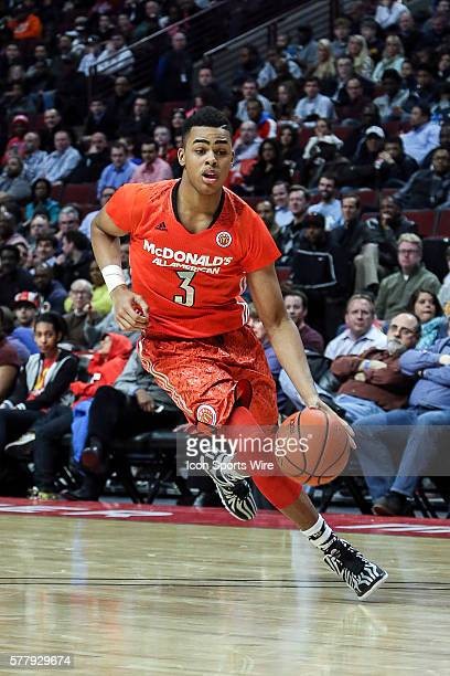 McDonald's All American East Boys Team D'angelo Russell in action during the 2014 Boy's McDonald's All American Game between the East Team and West...