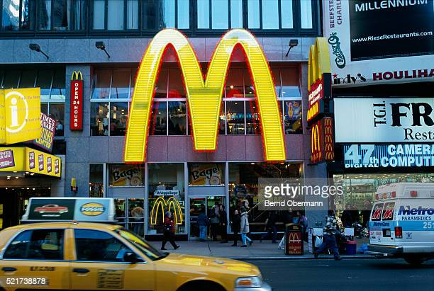 mcdonald's at times square - mcdonald's stock pictures, royalty-free photos & images