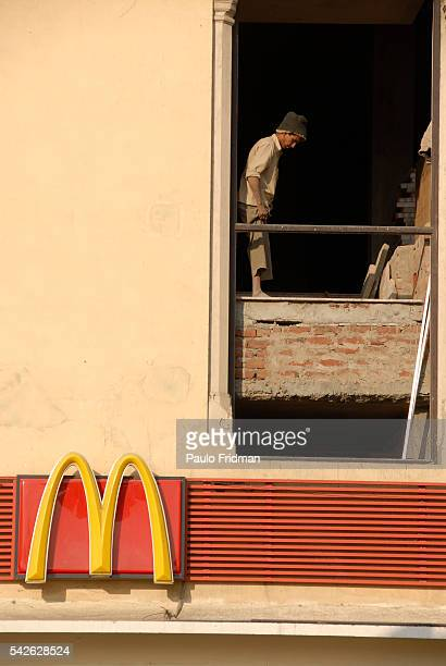 A McDonald's being built in Jaipur Rajasthan India