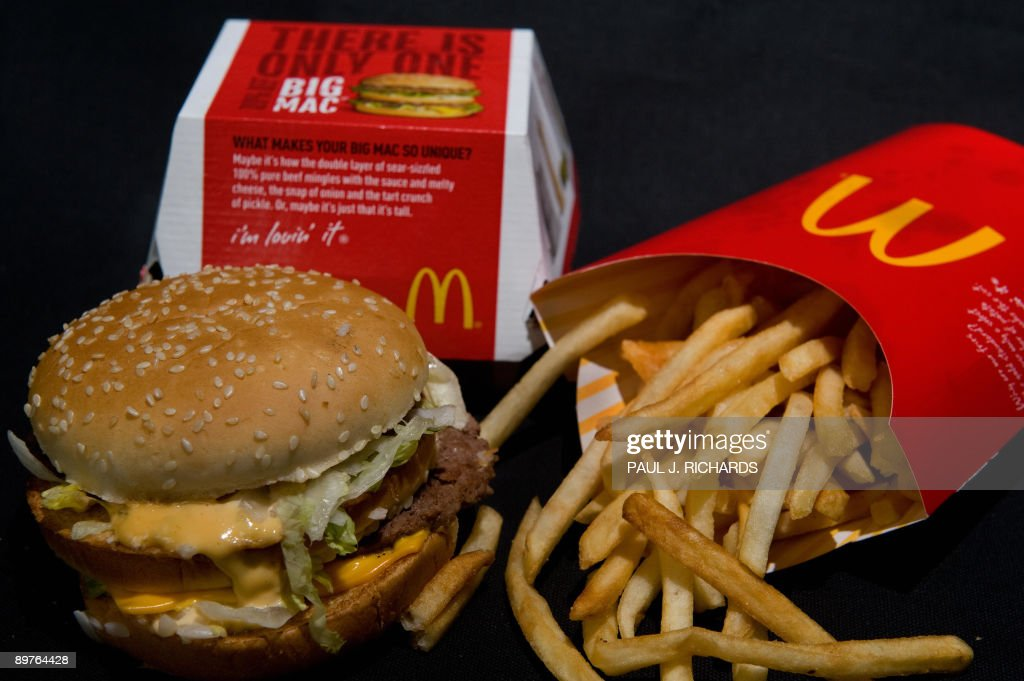A McDonald's Big Mac and French Fries ar : News Photo