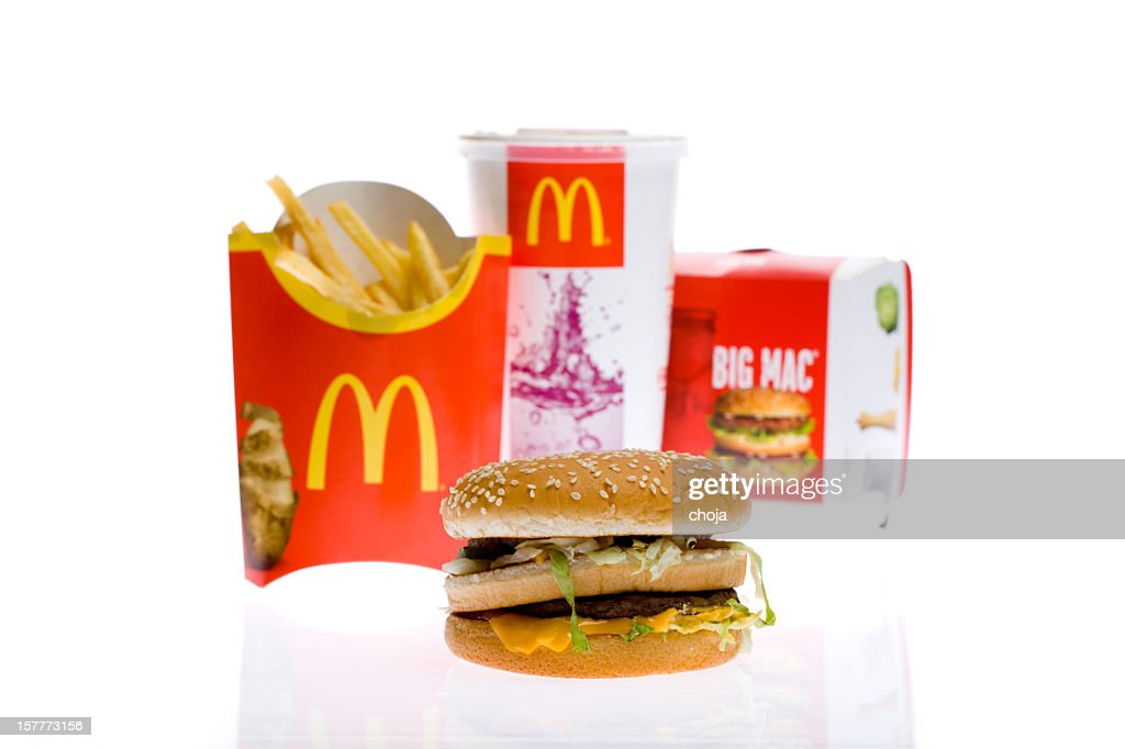 McDonald's Big Mac Burger Meal : Stock Photo