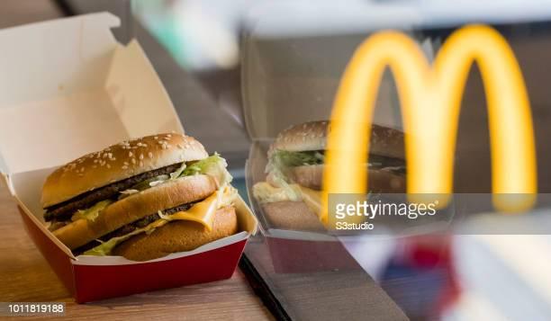 McDonald's Big Mac is seen in Hong Kong, Hong Kong, on August 02, 2018. McDonald's is giving away free big macs for the burger's 50th birthday....