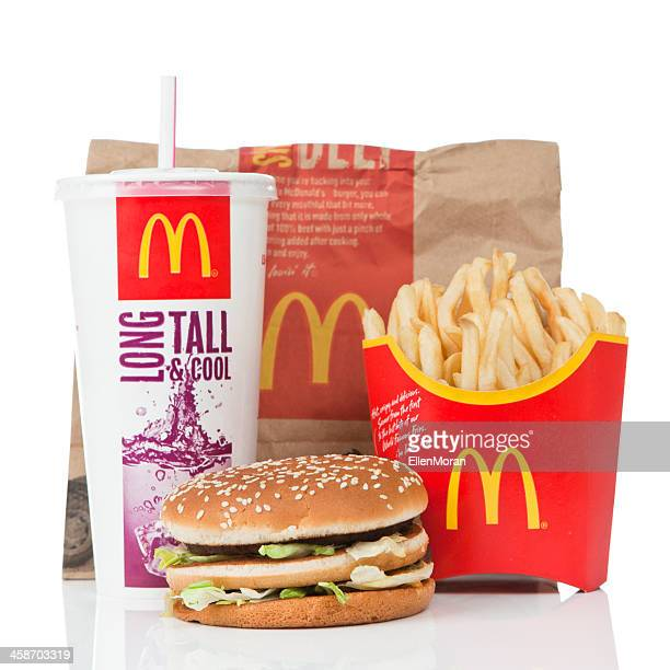 mcdonald's big mac value meal - mcdonald's stock photos and pictures