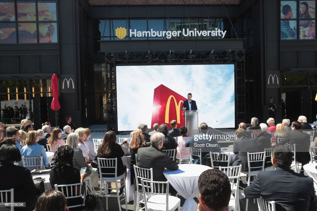 McDonald's Officially Unveils Its New Headquarters In Chicago : News Photo