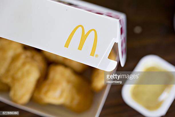 McDonald's Corp chicken nuggets are arranged for a photograph in Tiskilwa Illinois US on Friday April 15 2016 McDonald's Corp is expected to report...