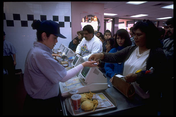 mcdonald s customers crowding counter a pictures getty images