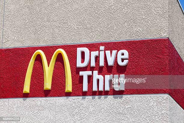 mcdonalds drive thru - mcdonald's stock pictures, royalty-free photos & images