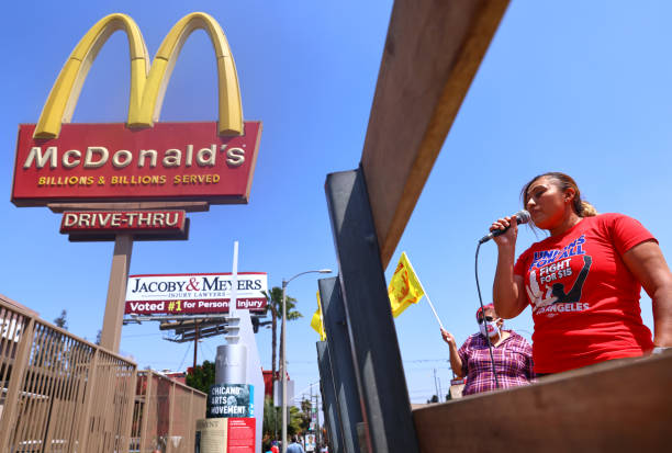 CA: McDonald's Employees And Supporters Rally For Health And Safety Standards For Industry Workers