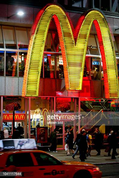 McDonald's fast food restaurant at Times Square in ...