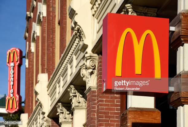 McDonald's fast food restaurant in downtown San Antonio Texas