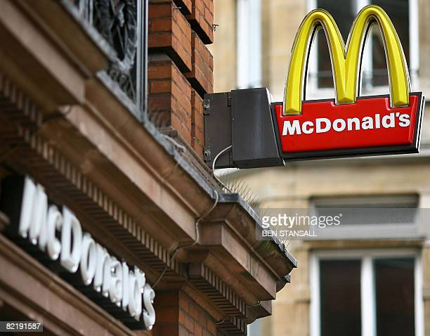 A McDonald's fast food store is pictured in central London on August 6 2008 McDonald's launched a campaign on August 6 to recruit 4000 staff in...