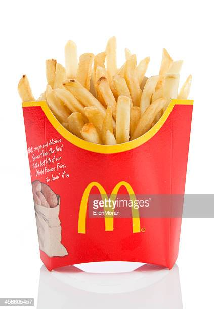 mcdonald's fries - mcdonald's stock pictures, royalty-free photos & images