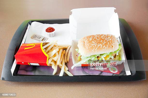 mcdonald's hamburger - mcdonald's stock pictures, royalty-free photos & images