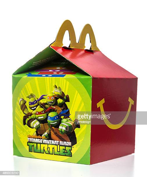 mcdonalds happy meal box - happy meal stock photos and pictures
