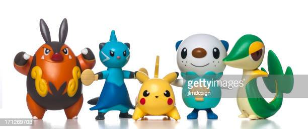 mcdonalds happy meal pokemon toys - pikachu stock photos and pictures