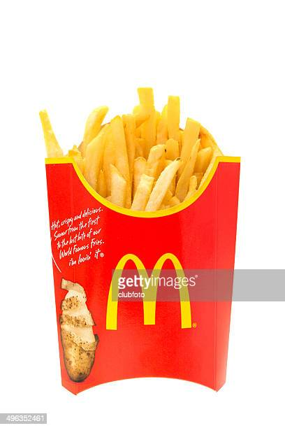mcdonalds large fries - mcdonald's stock photos and pictures