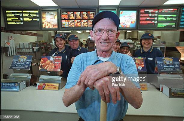 McDonald's maintenance man Tom Carlow found $6000 in garbage and had it returned to rightful owner etc Here he is with staff in restaurant as well as...