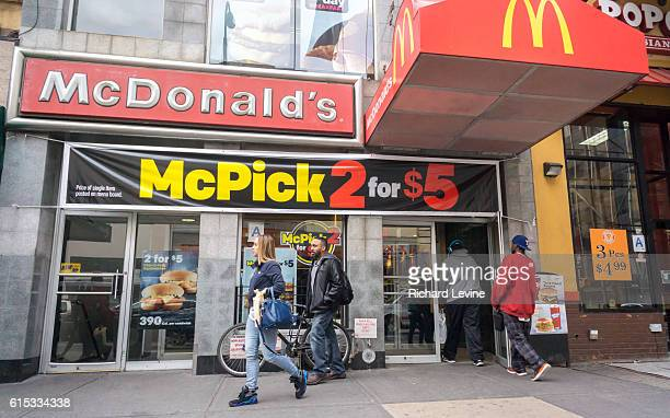 A McDonald's restaurant in Downtown Brooklyn in New York on Saturday March 12 2016