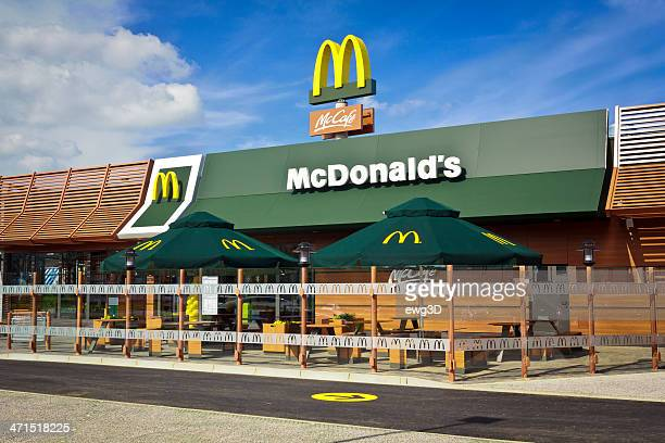 restaurante mcdonald's - mcdonalds fotografías e imágenes de stock