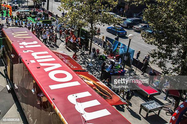 McDonald's shows fans that tailgating is an anytime anywhere experience at the NFL season opener kickoff party on September 4 2014 in Seattle...
