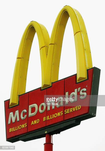McDonald's signage is seen outside a fastfood restaurant on January 26 2005 in Chicago Illinois A New York court has reinstated part of a classaction...