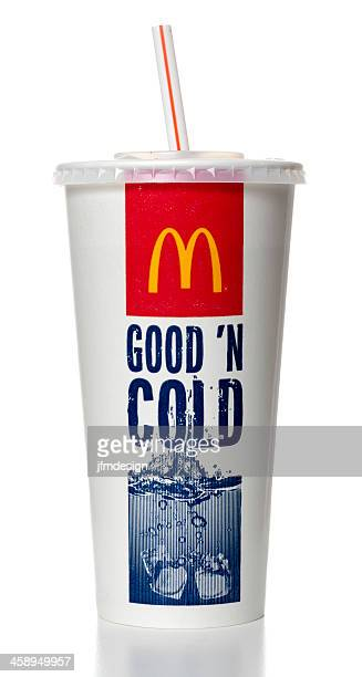 mcdonalds soda cup - mcdonalds fotografías e imágenes de stock
