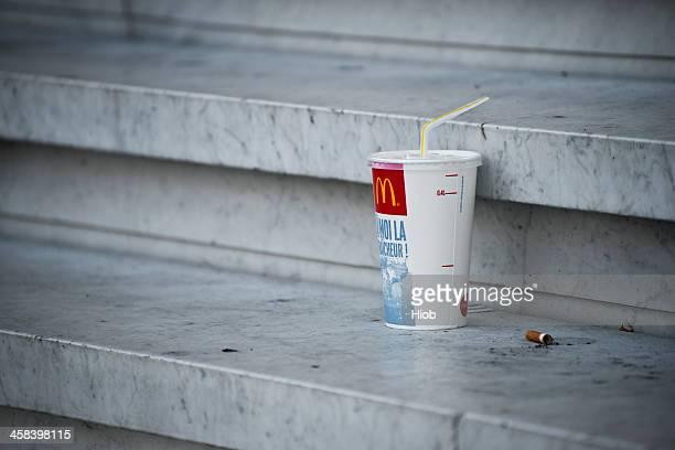 mcdonalds soft drink container - mcdonald's stock pictures, royalty-free photos & images