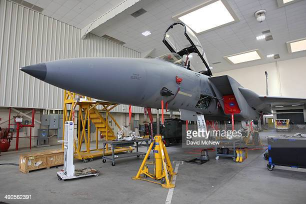 McDonnell Douglas F15D Eagles is seen on May 20 2014 on Edwards Air Force Base California NASA provided a behindthescenes tour of the NASA Armstrong...