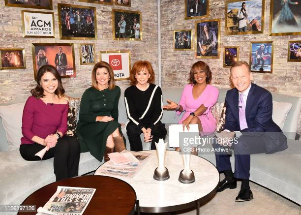 McENTIRE ANNOUNCES NOMINEES FOR THE 54TH ACADEMY OF COUNTRY MUSIC AWARDS ON CBS THIS MORNING with CBS This Morning CoHosts Bianna Golodryga Norah...