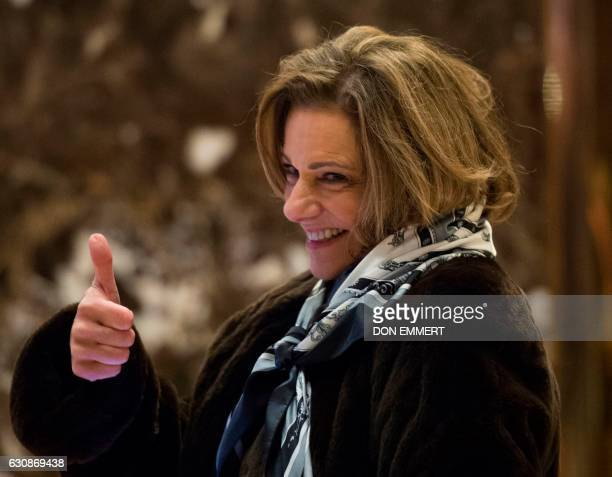 KT McFarland departs after meetings with US Presidentelect Donald Trump at Trump Tower on January 3 2017 in New York / AFP / DON EMMERT