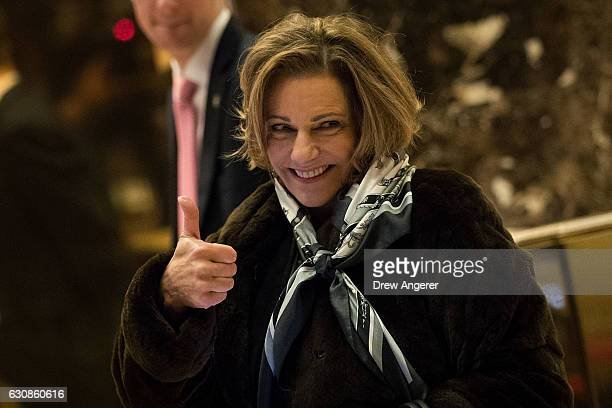 McFarland Presidentelect Donald Trump's choice for deputy national security advisor gives the thumbs up as she arrives at Trump Tower January 3 2017...