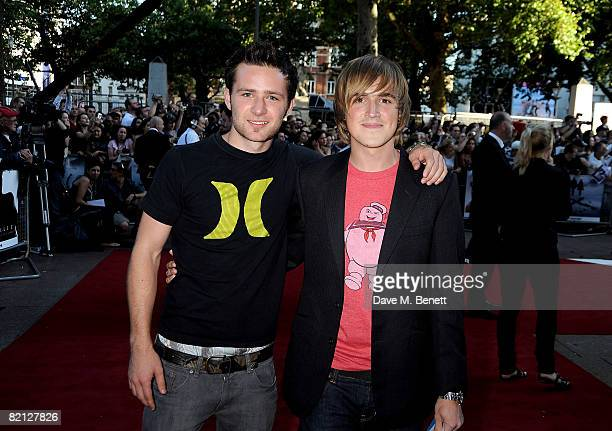 McFly arrives at the UK film premiere of 'The XFiles I Want To Believe' at the Empire Cinema on July 30 2008 in London England
