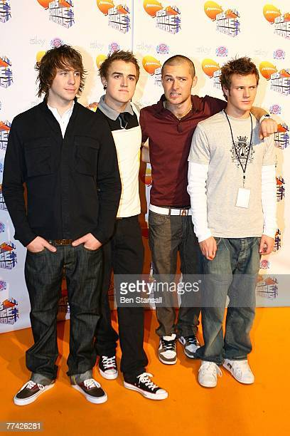 McFly attend the Nickelodeon Kids Choice Awards UK at the the Excel Arena on October 20 2007 in London England