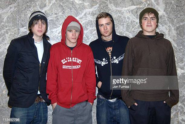 """McFly during Capital FM's Breakfast Show with Johnny Vaughan - """"Party In The Car Park"""" - August 5, 2005 at Macmillan Cancer Relief HQ in London,..."""
