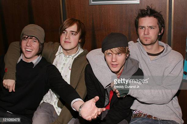 """McFly during """"Ice Age 2: The Meltdown"""" New York screening - Inside Arrivals at Ziegfeld Theater in New York, NY, United States."""