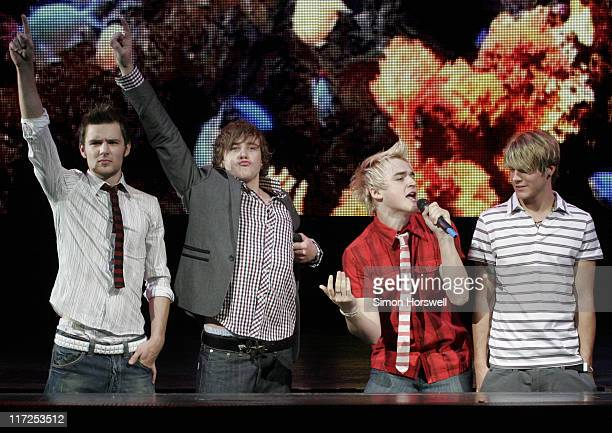 McFly during We Will Rock You Charity Performance to Celebrate Freddie Murcury's 60th Birthday at The Dominion Theatre in London, Great Britain.